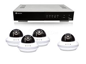 HD-Kamerasystem mit 4 Dome Nacht Kameras